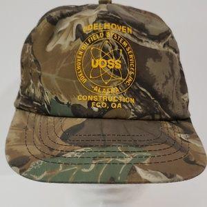 Camo Oilfield Construction Alaska Snapback Hat
